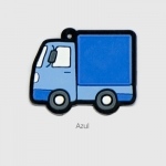 Chav. Emborrachados Colors P023 - Caminhãozinho - Resina 01 lado - 50 Unidades