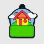 Chav. Emborrachados Colors P027 - Casinha Colors - Resina 01 lado
